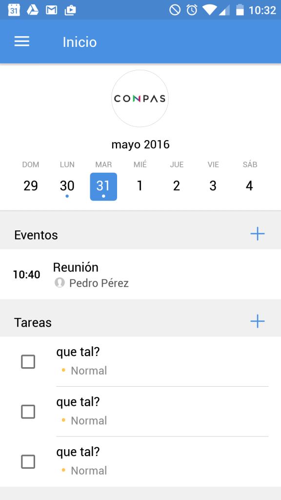 Evento en nuestro móvil